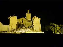 Scosse di terremoto, crolla chiesa San Salvatore di Norcia
